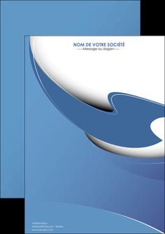 modele en ligne affiche ure en  bleu pastel courbes fluides MLGI25289