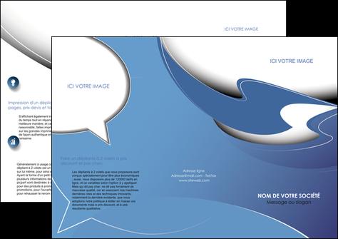 personnaliser maquette depliant 3 volets  6 pages  ure en  bleu pastel courbes fluides MLGI25291