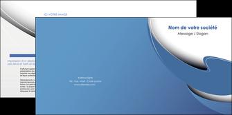 creation graphique en ligne depliant 2 volets  4 pages  ure en  bleu pastel courbes fluides MIF25297