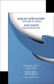 imprimer carte de visite ure en  bleu pastel courbes fluides MLIP25301
