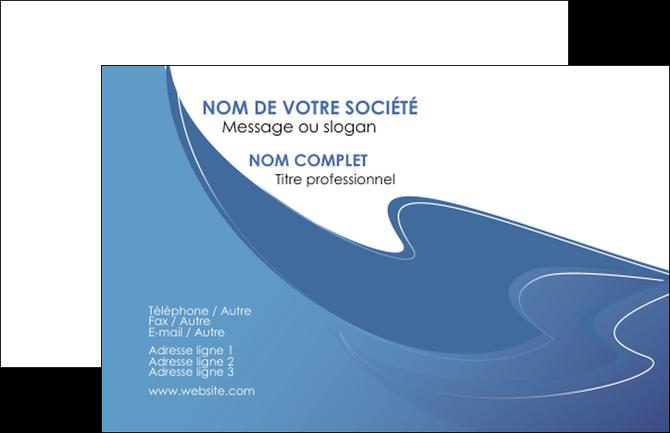 Faire Modele A Imprimer Carte De Visite Ure En Bleu Pastel Courbes Fluides MLGI25303