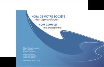 faire modele a imprimer carte de visite ure en  bleu pastel courbes fluides MIF25303