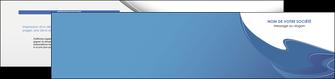 impression depliant 2 volets  4 pages  ure en  bleu pastel courbes fluides MIF25305