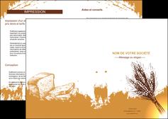 creation graphique en ligne depliant 2 volets  4 pages  boulangerie boulangerie boulange boulanger MLGI25319