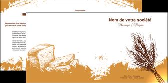 personnaliser modele de depliant 2 volets  4 pages  boulangerie boulangerie boulange boulanger MLGI25335