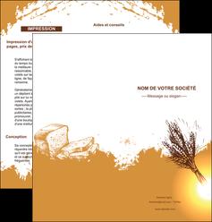 imprimerie depliant 2 volets  4 pages  boulangerie boulangerie boulange boulanger MLGI25343