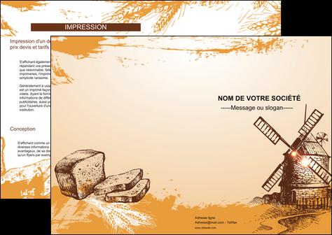 modele en ligne depliant 2 volets  4 pages  bar et cafe et pub boulangerie boulange boulanger MLIG25413