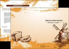 modele en ligne depliant 2 volets  4 pages  bar et cafe et pub boulangerie boulange boulanger MIF25413