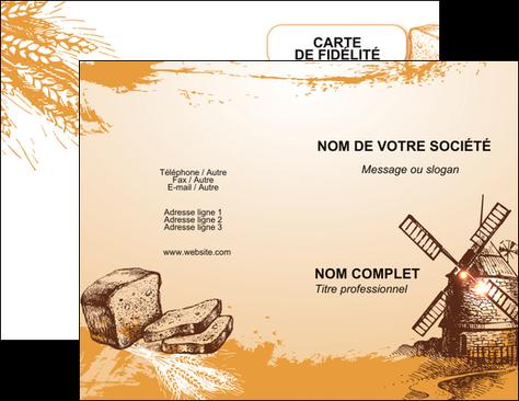 Maquette En Ligne A Personnaliser Carte De Visite Bar Et Cafe Pub Boulangerie Boulange Boulanger