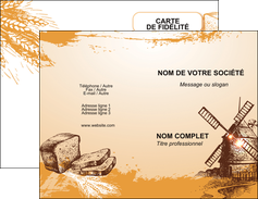 maquette en ligne a personnaliser carte de visite bar et cafe et pub boulangerie boulange boulanger MIF25431