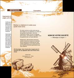 personnaliser modele de depliant 2 volets  4 pages  bar et cafe et pub boulangerie boulange boulanger MIF25437