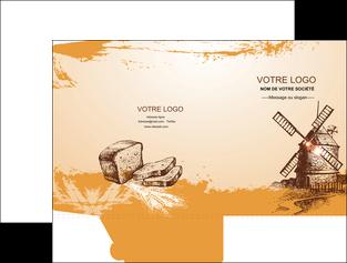 creer modele en ligne pochette a rabat bar et cafe et pub boulangerie boulange boulanger MIF25439