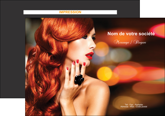 realiser flyers centre esthetique  coiffure coiffeur coiffeuse MIF25453