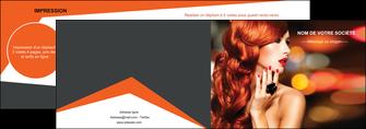 creation graphique en ligne depliant 2 volets  4 pages  centre esthetique  coiffure coiffeur coiffeuse MIF25461