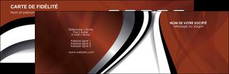 Impression carte de visite  Carte commerciale de fidélité devis d'imprimeur publicitaire professionnel Carte de visite Double - Paysage