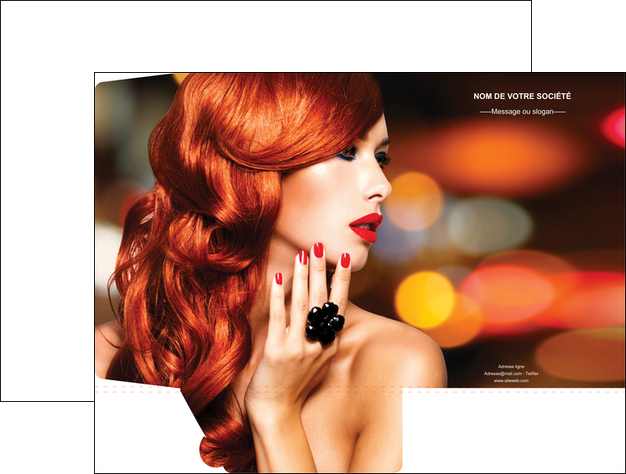realiser pochette a rabat centre esthetique  coiffure coiffeur coiffeuse MLGI25501