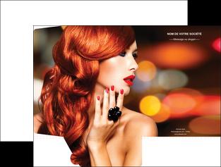 realiser pochette a rabat centre esthetique  coiffure coiffeur coiffeuse MIF25501
