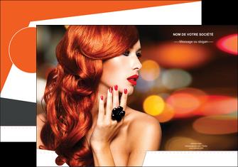 personnaliser maquette pochette a rabat centre esthetique  coiffure coiffeur coiffeuse MIF25503