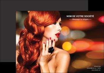 personnaliser maquette affiche centre esthetique  coiffure coiffeur coiffeuse MIF25509