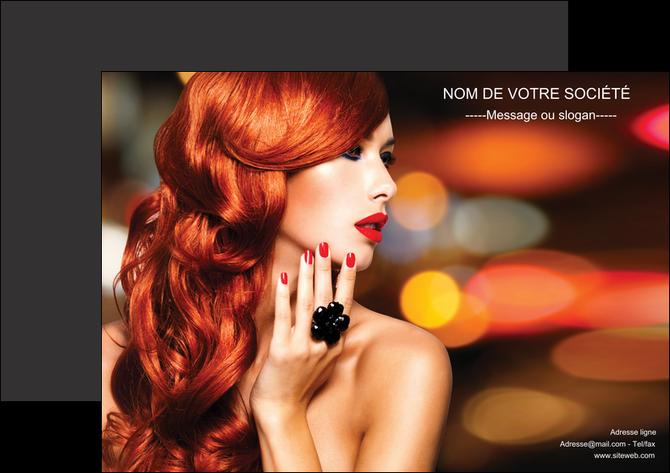 creation graphique en ligne affiche centre esthetique  coiffure coiffeur coiffeuse MLGI25513