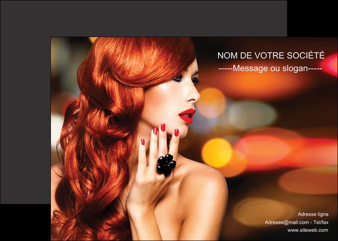 personnaliser modele de affiche centre esthetique  coiffure coiffeur coiffeuse MIF25515