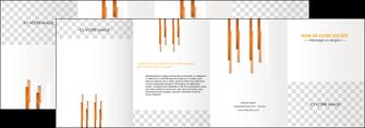 personnaliser maquette depliant 4 volets  8 pages  textures contextures structures MLGI25517