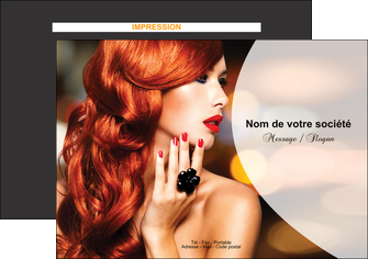 faire modele a imprimer flyers centre esthetique  coiffure coiffeur coiffeuse MIF25557