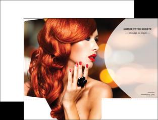 realiser pochette a rabat centre esthetique  coiffure coiffeur coiffeuse MIF25559