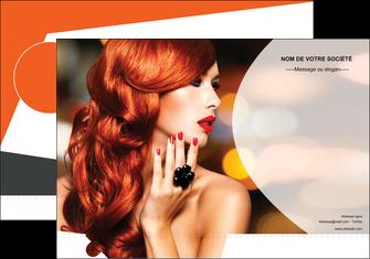 creation graphique en ligne pochette a rabat centre esthetique  coiffure coiffeur coiffeuse MIF25561