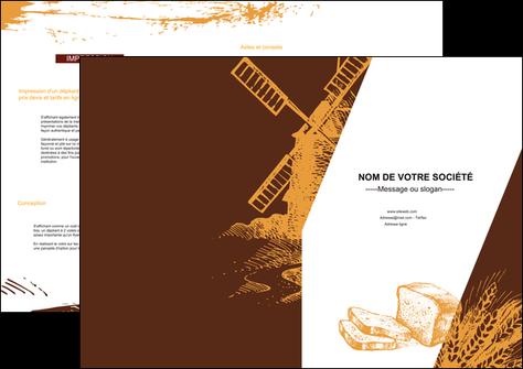 imprimer depliant 2 volets  4 pages  boulangerie boulangerie boulanger boulange MLGI25579