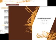 personnaliser maquette depliant 2 volets  4 pages  boulangerie boulangerie boulanger boulange MLGI25581