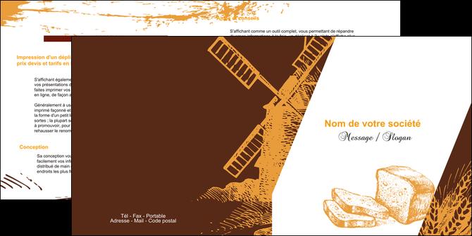 personnaliser maquette depliant 2 volets  4 pages  boulangerie boulangerie boulanger boulange MLGI25597