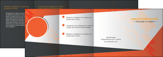 realiser depliant 4 volets  8 pages  texture contexture structure MLGI25679