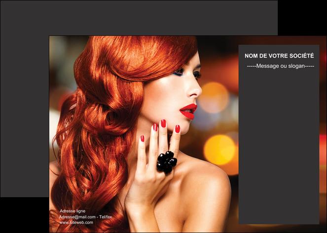 creation graphique en ligne affiche centre esthetique  coiffure coiffeur coiffeuse MLGI25681