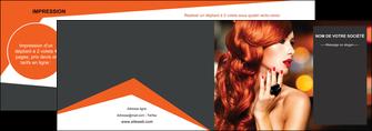 imprimerie depliant 2 volets  4 pages  centre esthetique  coiffure coiffeur coiffeuse MIF25683