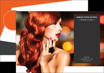 impression pochette a rabat centre esthetique  coiffure coiffeur coiffeuse MIF25687
