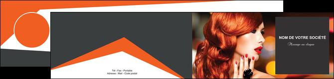 modele en ligne depliant 2 volets  4 pages  centre esthetique  coiffure coiffeur coiffeuse MLGI25691