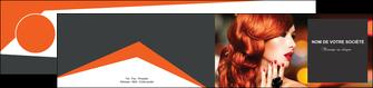 modele en ligne depliant 2 volets  4 pages  centre esthetique  coiffure coiffeur coiffeuse MIF25691