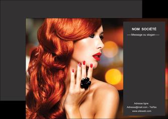 modele en ligne flyers centre esthetique  coiffure coiffeur coiffeuse MIF25693