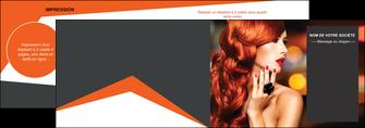 personnaliser modele de depliant 2 volets  4 pages  centre esthetique  coiffure coiffeur coiffeuse MIF25695
