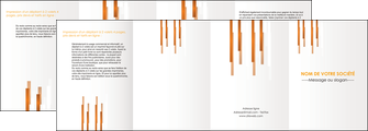 realiser depliant 4 volets  8 pages  texture contexture structure MIF25697