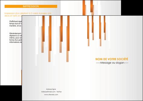 personnaliser modele de depliant 2 volets  4 pages  texture contexture structure MIS25699