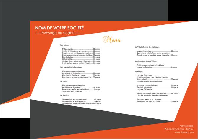 modele en ligne set de table metiers de la cuisine menu restaurant gastronomie MLGI25745