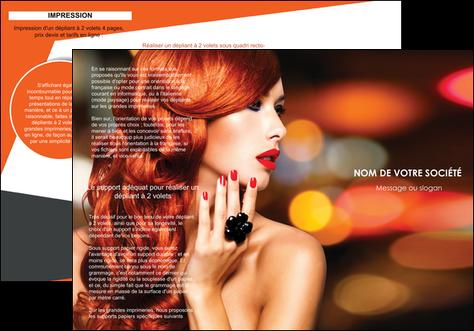 faire modele a imprimer depliant 3 volets  6 pages  centre esthetique  coiffure coiffeur coiffeuse MLGI25801