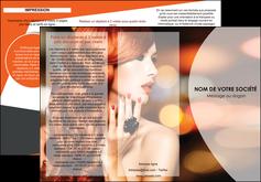 personnaliser maquette depliant 3 volets  6 pages  centre esthetique  coiffure coiffeur coiffeuse MIF25803