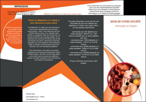 creation graphique en ligne depliant 3 volets  6 pages  centre esthetique  coiffure coiffeur coiffeuse MIS25805