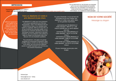 Commander Dépliant centre esthétique  papier publicitaire et imprimerie Dépliant 6 pages pli accordéon DL - Portrait (10x21cm lorsque fermé)
