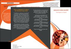 Commander Plaquette entreprise centre esthétique  papier publicitaire et imprimerie Dépliant 6 pages pli accordéon DL - Portrait (10x21cm lorsque fermé)