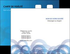Impression cartes visites vernis selectif  Carte commerciale de fidélité papier à prix discount et format Carte de visite Double - Portrait