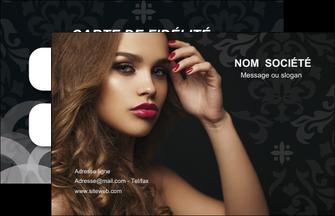personnaliser maquette carte de visite centre esthetique  coiffure salon salon de coiffure MLGI25951